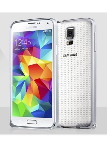 Microsonic Galaxy S5 Ultra Thin Metal Bumper Kılıf Gümüş Renkli